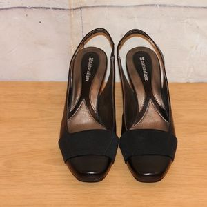 Naturalizer Size 9 Leather Sling Back Shoes Black